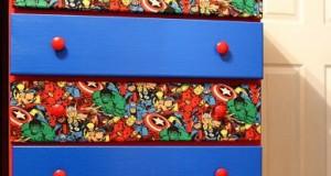 Superhero dresser drawers