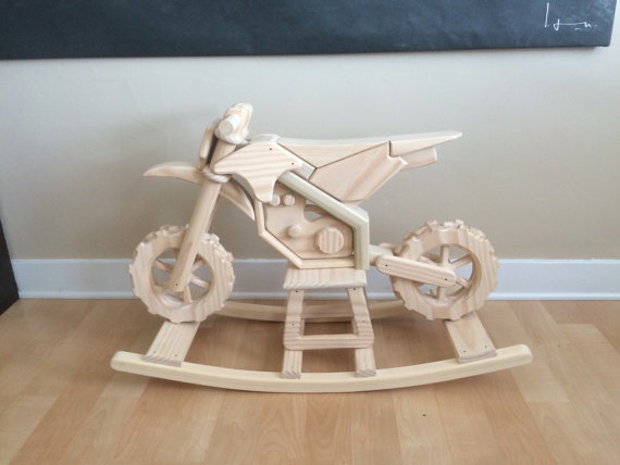 Motorcycle rocking horse 5 kinds of awesome cool kiddy for Cool things made out of horseshoes