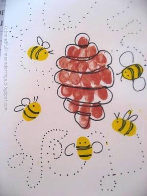 thumbprint-honey-bees-and-hive-craft