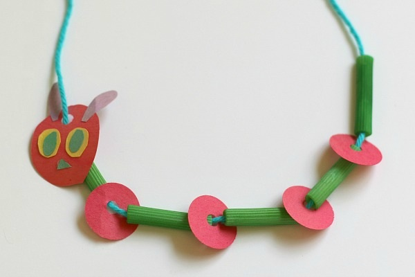 very-hungry-caterpillar-necklace-craft